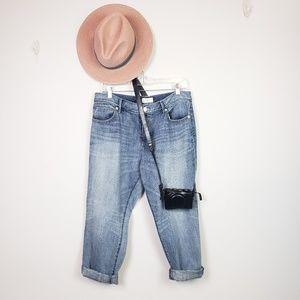 Lou & Grey Boyfriend Crop Distressed Jeans